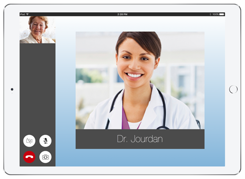 Live Expert Mobility Home Healthcare iPad In Call